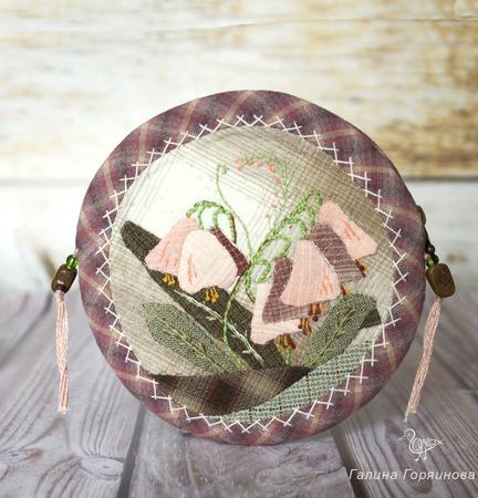 Лоскутный кошелек Весенние цветы ручной работы на заказ