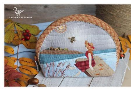 """Косметичка из ткани """"Осень"""" ручной работы на заказ"""