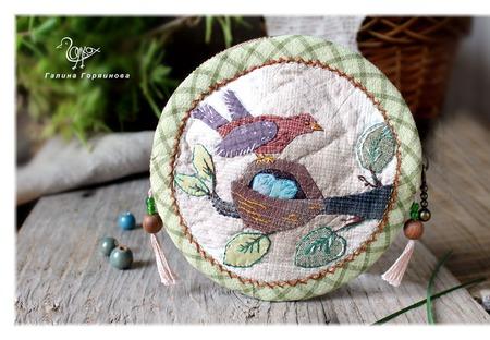 """""""Весна в лесу"""", японский кошелек. Гнездо птицы ручной работы на заказ"""