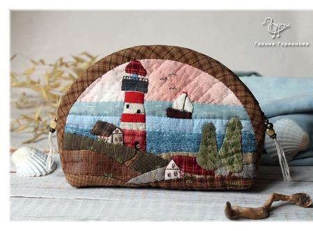 Маяк, косметичка , морская тема, домики ручной работы на заказ