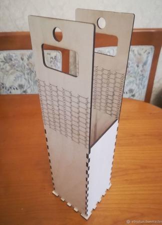 Коробка для вина из дерева ручной работы на заказ