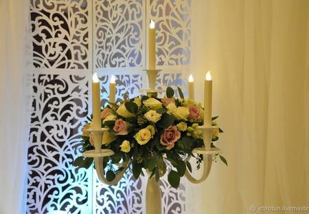 Свадебная ширма (аренда) ручной работы на заказ