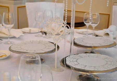 Номерки на свадебный стол ручной работы на заказ