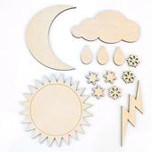 """Набор заготовок """"Погода"""" для рукоделия, и творчества."""