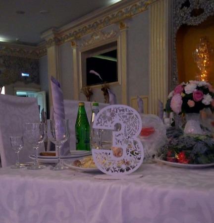 Номерки на свадебный стол. ручной работы на заказ