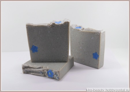Лунная тубероза. Натуральное мыло с солью Мёртвого моря (25%) и голубой кембрийской глиной ручной работы на заказ