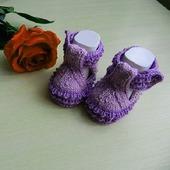 Туфельки пинетки вязаные