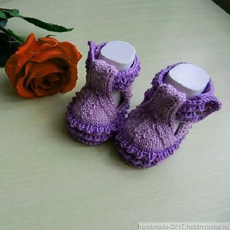 Туфельки пинетки вязаные ручной работы на заказ