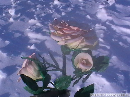 """Роза из фоамирана """"Утро"""" ручной работы на заказ"""