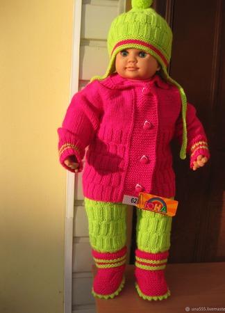 Комплект на рост 62см (кардиган,штанишки, шапочка и пинетки ручной работы на заказ