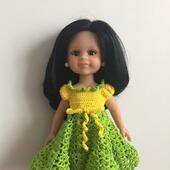 Платье на куклу Паола Рейн