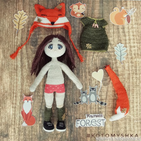 Кукла-лисичка ручной работы на заказ