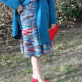 Вязаная юбка из мохера