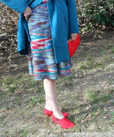 Вязаная юбка из мохера ручной работы на заказ