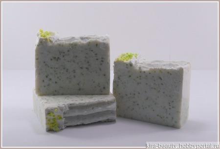 Шалфей и морская соль. Натуральное мыло с солью Мёртвого моря 50% ручной работы на заказ
