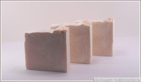 Лотос и морская соль. Натуральное мыло с с розовой гималайской солью 70% ручной работы на заказ