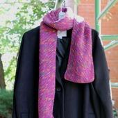 Вязаный шарф шарфик демисезонный фуксия