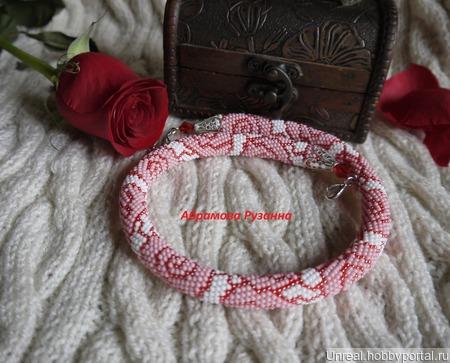 Жгут колье Витражные Розы ручной работы на заказ