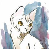 """Триптих """"Звёздные лорды"""", картина, акварель, кошки"""