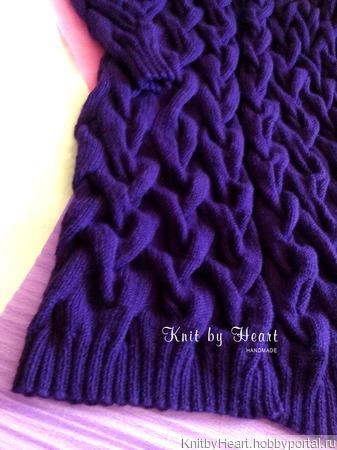 Длинный вязаный кардиган Knit by Heart ручной работы на заказ