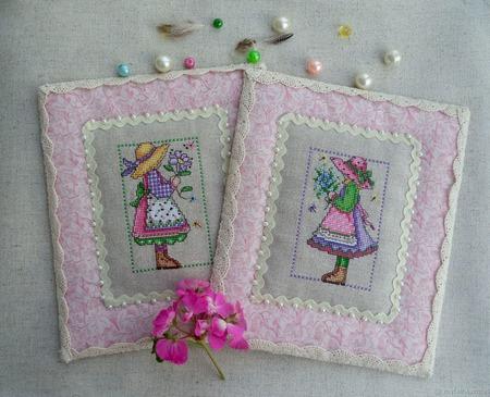 Картина в детскую Юные садовницы, картина в подарок девочке, весна. ручной работы на заказ