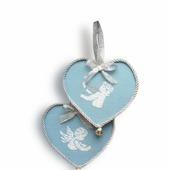 Подвеска интерьерная Два сердца,подвеска декоративная, валентинка