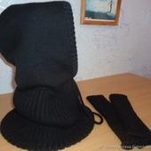 Снуд-капюшон мужской и митенки