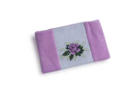 Подарок для подруги ,косметичка с вышивкой Роза, подарок женщине ручной работы на заказ