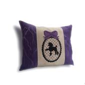Подарок на день рождения подушка Гламурный пудель,подарок девушке.
