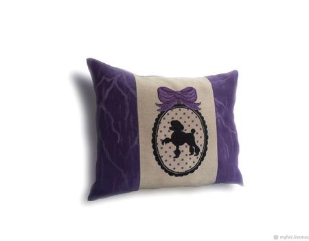 Подарок на день рождения подушка Гламурный пудель,подарок девушке. ручной работы на заказ