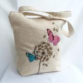 Сумка женская Весна, сумка с вышивкой, сумка льняная
