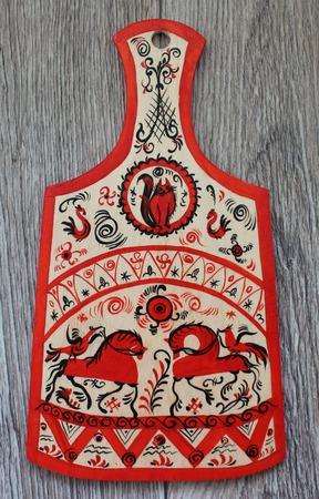 Кухонный набор Мезенский мотив ручной работы на заказ