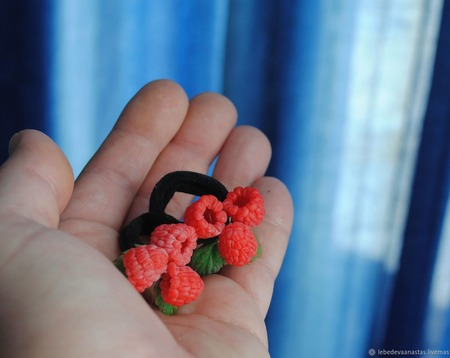 """Детские украшения """"Малинки"""", браслет и резиночки ручной работы на заказ"""
