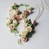 """Кулон и браслет """"Нежные розы"""""""