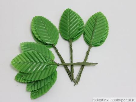 Листик. 10 см. Цвет зеленое яблоко (цена за 1 листик) ручной работы на заказ