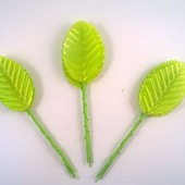 Листик. 10 см. Цвет светло-зеленый (цена за 1 листик)