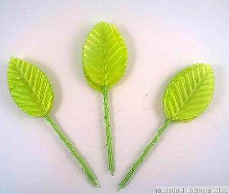 Листик. 10 см. Цвет светло-зеленый (цена за 1 листик) ручной работы на заказ