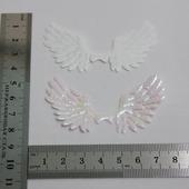 "Патч ""Крылья"", 70*35 мм, цвет белый хамелион"
