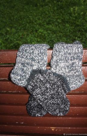 44 (+-1) р. Носки полушерстяные вязание на спицах ручной работы на заказ