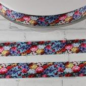 """Лента репсовая с рисунком """"Цветочный шёлк"""", ширина 25 мм"""