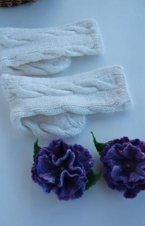 """Домашние носочки """"Фиолетовый олеандр"""" ручной работы на заказ"""