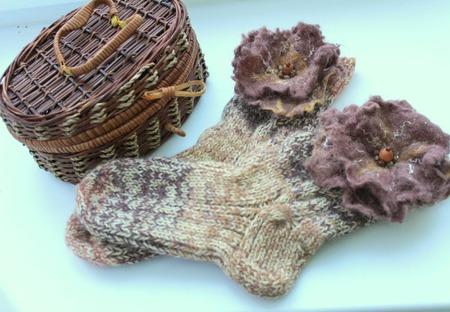 """Домашние носки """"Лесные сказки"""" ручной работы на заказ"""