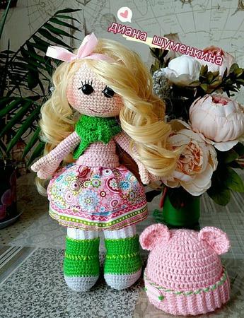 Вязаная кукла Мирослава ручной работы на заказ