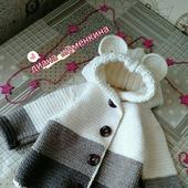 Вязаный кардиган-пальто для девочки
