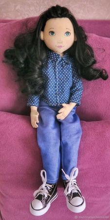 Кукла игровая в зимней одежке ручной работы на заказ