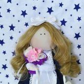 Кукла-школьница (первоклашка)