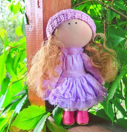 Принцесса в сиреневом платье ручной работы на заказ