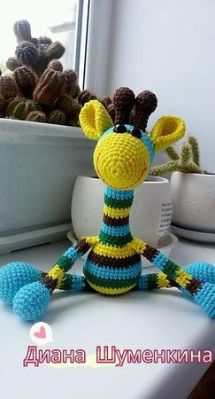 Жирафик Оскар 3в1.вязаный ручной работы на заказ