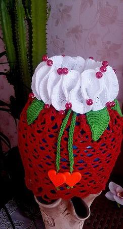 Вязаная панама для девочки ручной работы на заказ