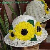 """Шляпка-панамка """"Южное солнце"""" для девочки"""